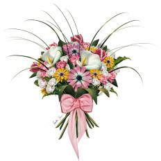 10 rossella piccini illustrazione mazzo di fiori