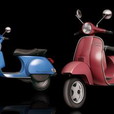 13 rossella piccini illustrazione vespa scooter