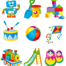 rossella piccini illustrazioni giocattoli infanzia giochi